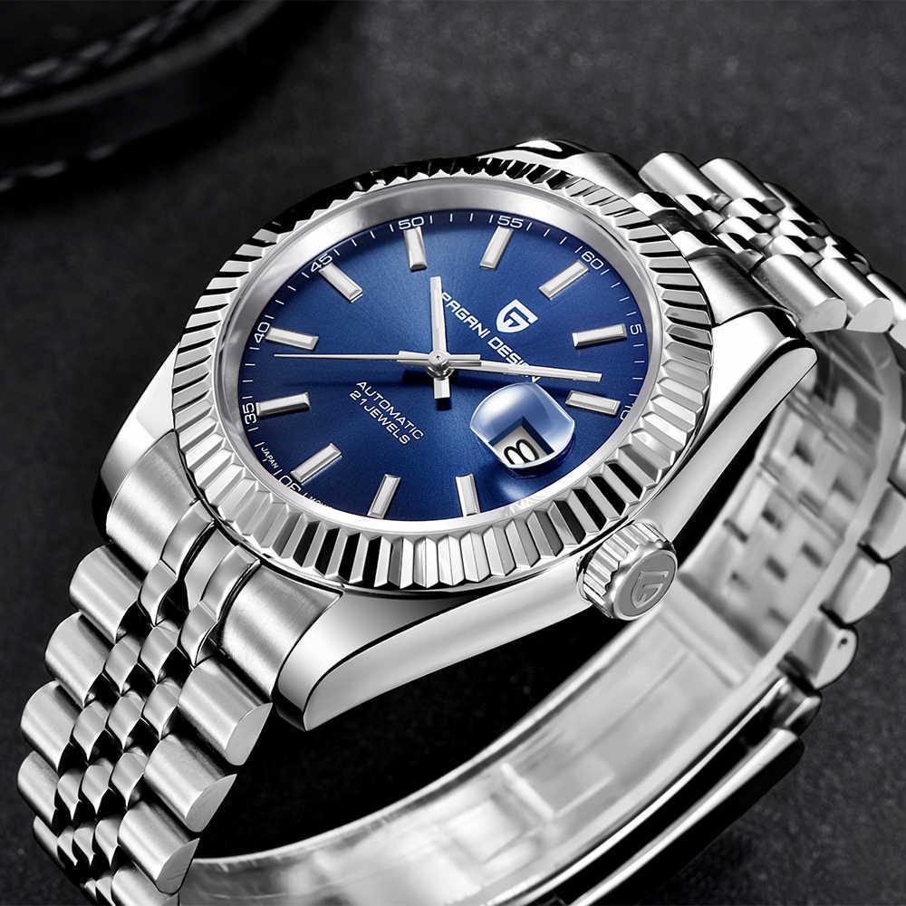 PAGANI DESIGN męski zegarek mechaniczny, top marka, luksusowy zegarek automatyczny, sportowy, wodoodporny, zegarek ze stali nierdzewnej, dla mężczyn