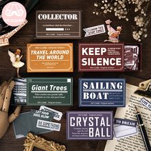 M 60Pcs/box Vintage Retro Writable Lable Stickers Scrapbooking Bullet Journal Colourful English Words Stationery
