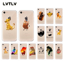 Lvtlv Lion King Pumba Hakuna Matata Hitam Soft Shell Penutup Telepon untuk iPhone 11 Pro XS MAX 8 7 6 6S Plus X 5 5S SE XR(China)