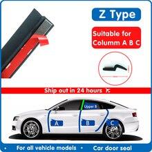 Sello para puerta de coche tipo Z, cinta de sellado de goma con aislamiento acústico, embellecedor, accesorios para coche en forma de Z