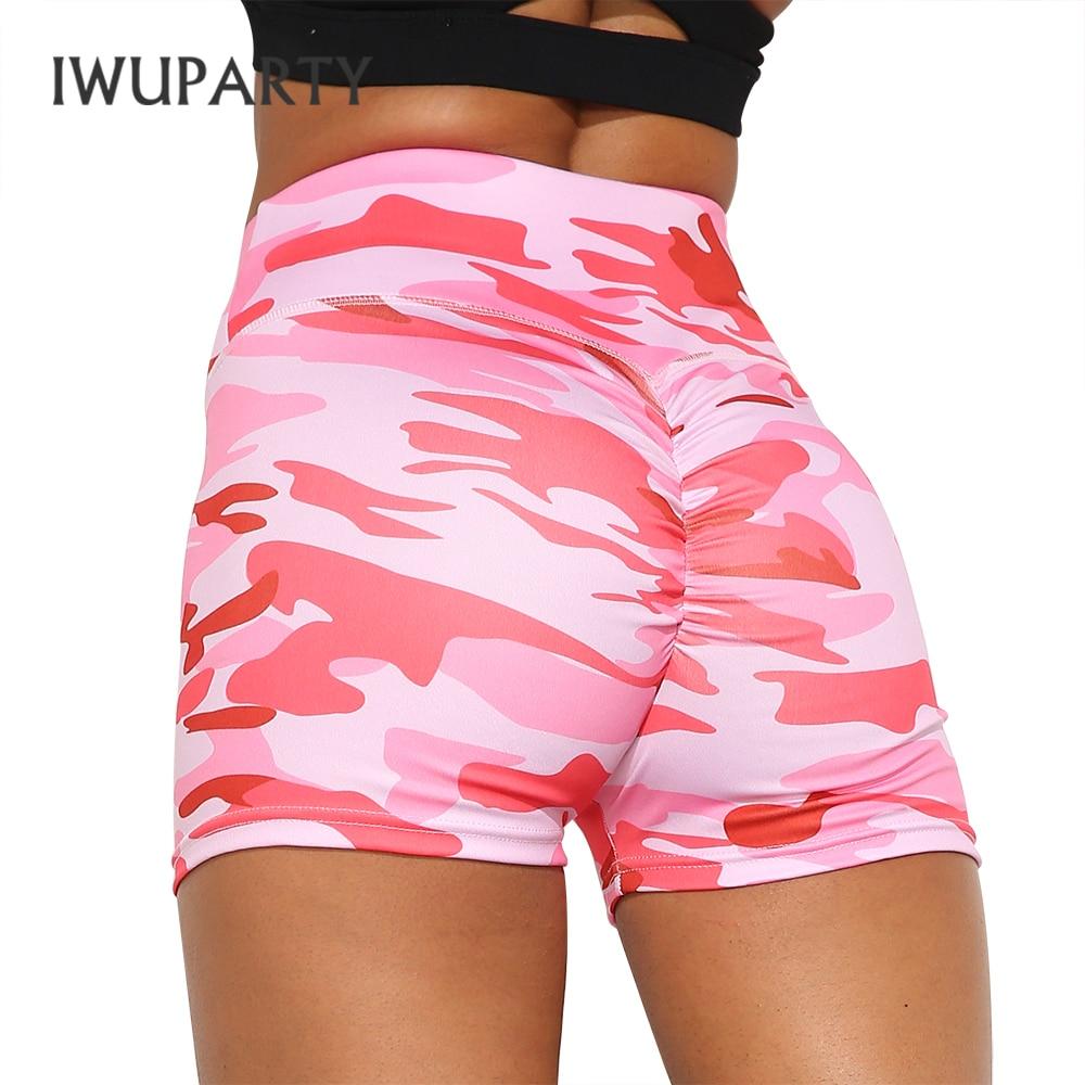 IWUPARTY Camo Print High Waist Yoga Shorts Push Up Fitness Workout Shorts Stretchy Fabric Squat Proof Trainning Sport Shorts|Yoga Shorts|   - AliExpress