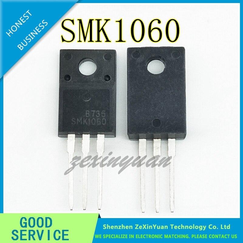 10PCS/LOT SMK1060 SMK1060F 1060 TO-220F 10A 600V Power MOSFET Transistor