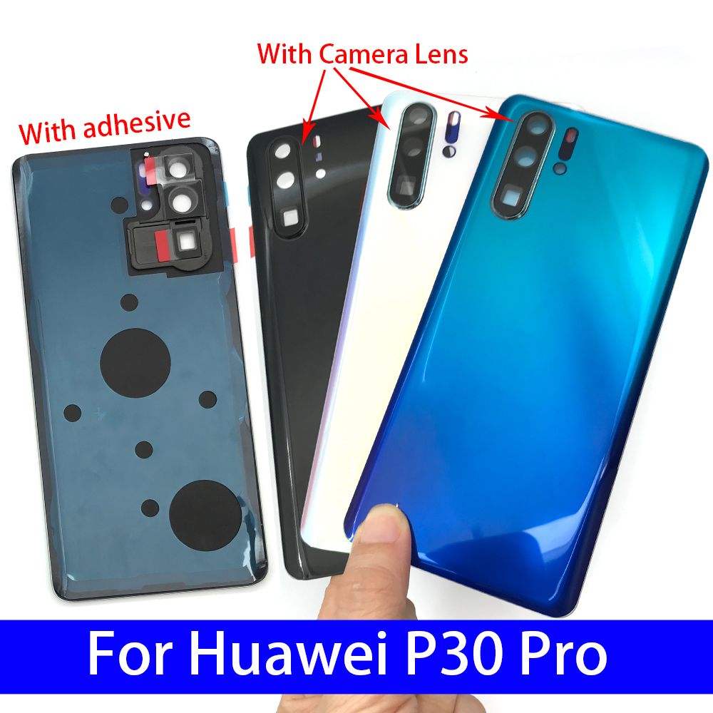 Back <font><b>Battery</b></font> Door Rear Housing <font><b>Cover</b></font> Case With Camera Glass For <font><b>Huawei</b></font> P20 For <font><b>Huawei</b></font> <font><b>P30</b></font> Pro image