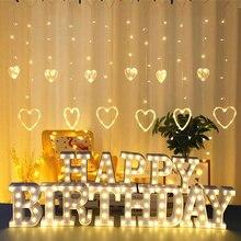 LED אנגלית מכתב לילה אור האלפבית סוללה Marquee סימן מספר מנורה מקורה בית Culb DIY חתונת מסיבת יום הולדת קישוט