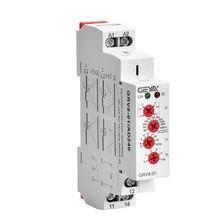 GEYA-relé de control de protección de sobrevoltaje, relé de control de protección monofásico de 10A, 12V, 48V, 110V, 240V, GRV8