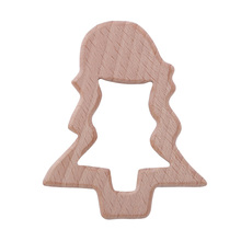 Baby Teether Wooden Christmas Tree Shape Teether Molar Toy baby