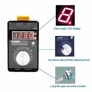 Image 5 - ポータブル0 5v 0 10v 4 20mA発生器ledディスプレイ高精度に調整可能dc電流電圧信号発生器なしバッテリー