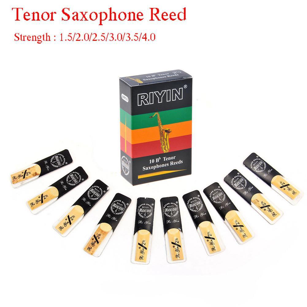High Quality 10pcs Tenor Saxophone Reeds Bb Tone Strength 1.5 2.0 2.5 3.0 3.5 4.0 Sax Instrument Reed