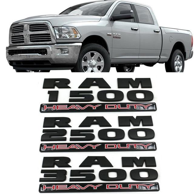 3D Car Rear Stickers Exterior for RAM Emblem Badge Car Styling for Dodge RAM Nitro Challenger Ram 1500 Durango Caravan Caliber 1