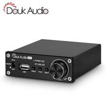 Douk audio Bluetooth 5.0 Eindversterker Stereo 2.0 Ch Subwoofer Amp Treble Bass Aanpassen USB Lossless Muziekspeler 100W /320W