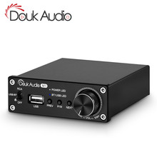 Douk audio Bluetooth 5.0 Power Amplifier Stereo 2.0 Ch Subwoofer Amp Treble Bass Adjust USB Lossless Music Player 100W/320W