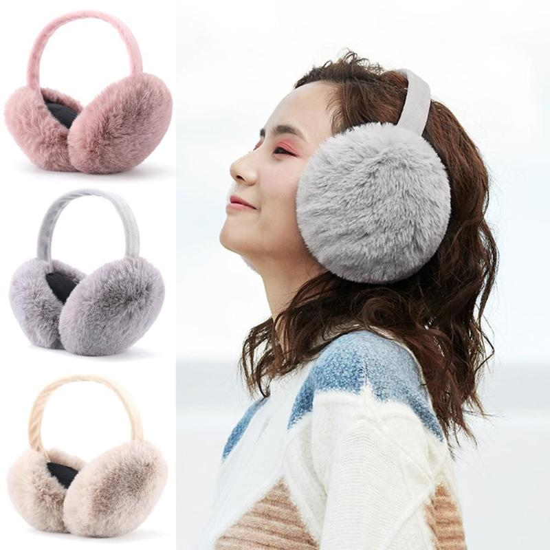 Winter Earmuffs Women Men Ear Warmer Plush Soft Headband Student  Ear Muff