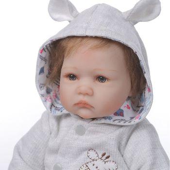 40cm Realistic Reborn Doll Soft Full Silicone Vinyl Newborn Babies Boy Girl Lifelike Handmade Toy For Children Xmas Gift Y4QA