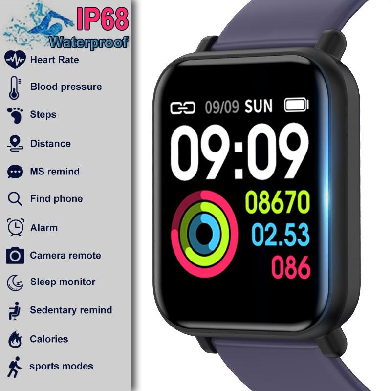 R16 Smartwatch IP68 Waterproof Heart Rate Blood Pressure Monitor Fitness Tracker Men Women Smart Watch For Apple IPhone Xiaomi