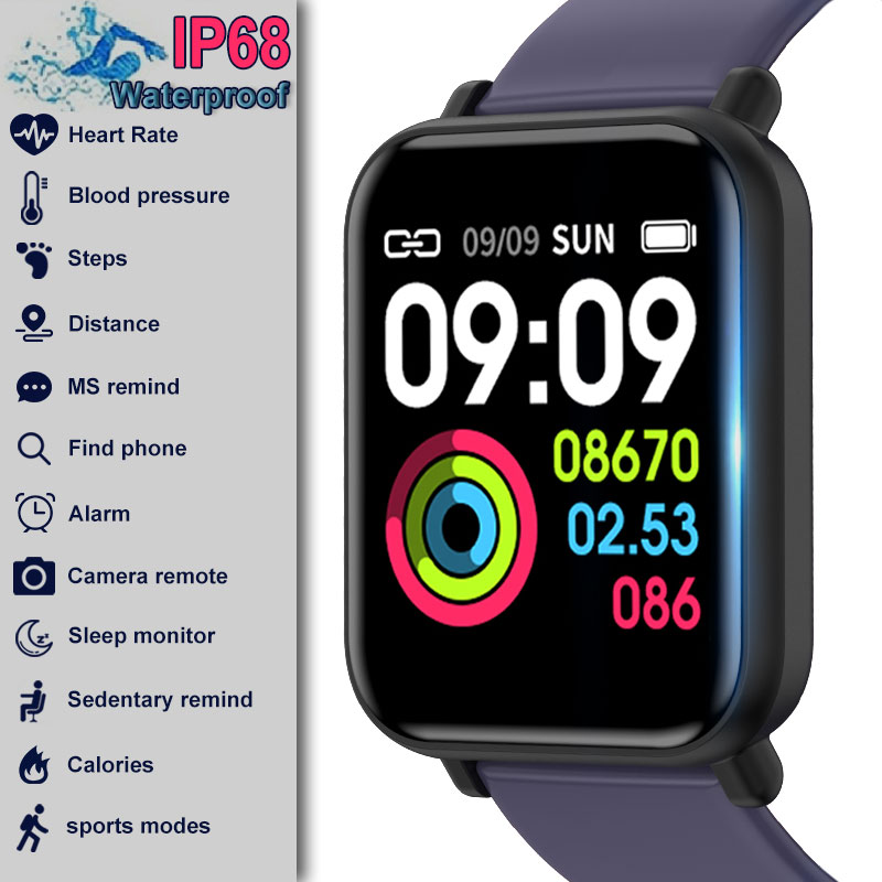 R16 Smartwatch IP68 Waterproof Heart Rate Blood Pressure Monitor Fitness Tracker Men Women <font><b>Smart</b></font> <font><b>Watch</b></font> For Apple IPhone Xiaomi image