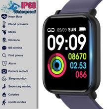 R16 Smartwatch IP68 Waterproof Heart Rate Blood Pressure Monitor Fitness Tracker Men Women