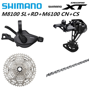 Image 5 - SHIMANO DEORE XT M8100 M7100 M6100 M9100 12s Groupset MTB dağ bisikleti SL + RD + CS + hg abs m8100 Shifter arka attırıcı zincir kaset