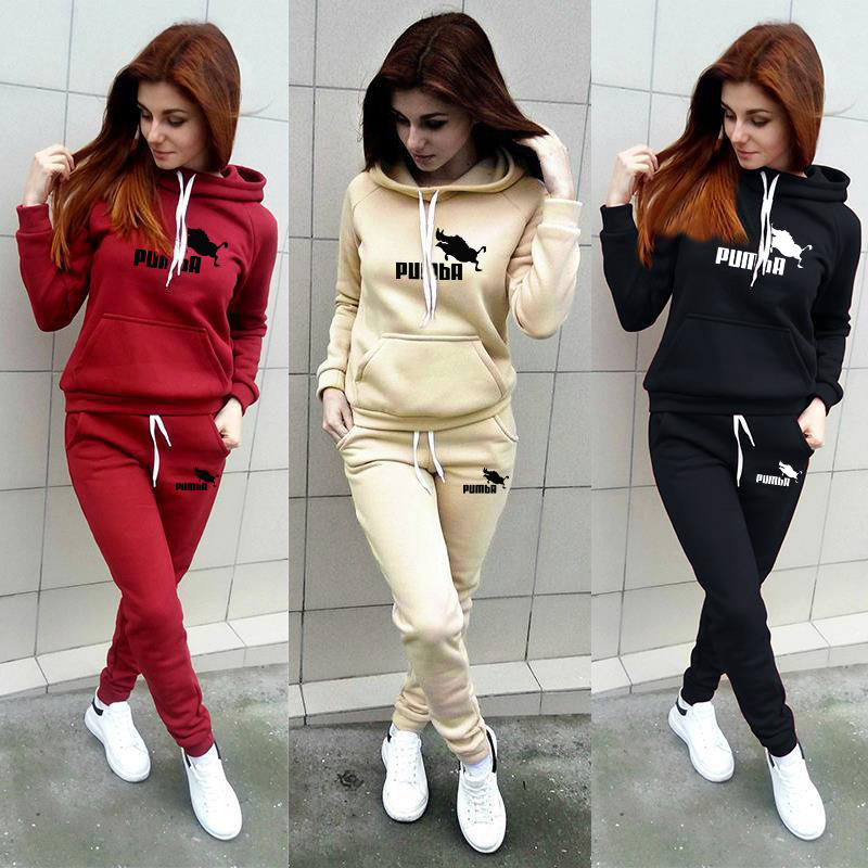 2020 New Tracksuit For Women Clothes Two Piece Set Hoodie Sweatshirt Top And Pants Casual Ensemble Femme Suits Plus Size S-4XL