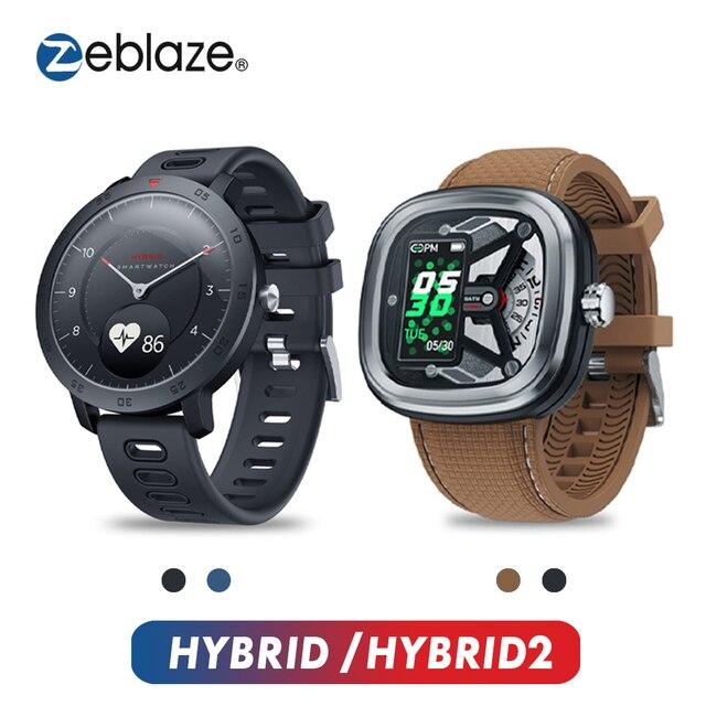 Zeblaze HYBRID 2 Smart Uhr Herz Rate Blutdruck Schlaf Tracking Armbanduhr Smart Timer Sport Wasserdicht Männer Smartwatch
