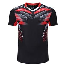 Новые рубашки для бадминтона для мужчин, Спортивная футболка, теннисные рубашки для мужчин, футболка для настольного тенниса, быстросохнущ...