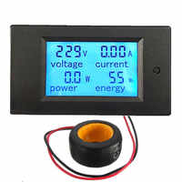100A 22000W alimenté Module de moniteur AC mètre panneau 45-65Hz tension de Test AC 80-260V accessoires LCD écran à cristaux liquides