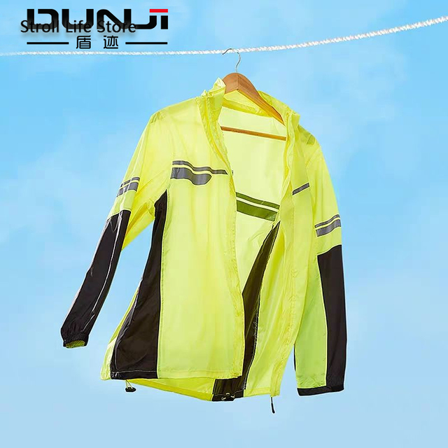 Waterproof Suit Rain Coat Women Men Motorcycle Raincoat Adult Split Reflective Thin Yellow Rain PantsPoncho Impermeable Gift 1