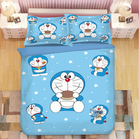 3D Bedding Sets Duvet Cover Set single double queen king bedclothes Pillowcase cartoon Home Textiles blue quilt cover set