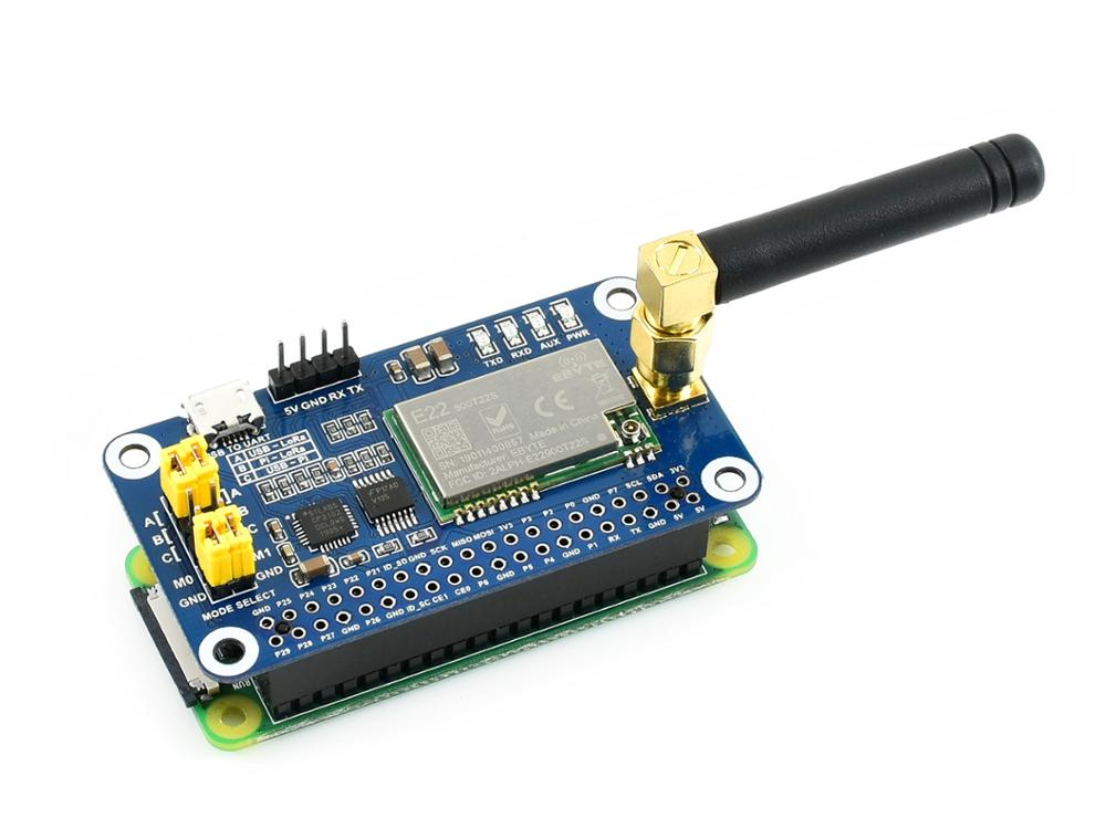 Waveshare SX1262 LoRa HAT For Raspberry Pi, Spread Spectrum Modulation, 915MHz Frequency Band