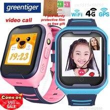 Greentiger 4G ağ A36E Wifi GPS SOS akıllı izle çocuklar görüntülü görüşme IP67 su geçirmez çalar saat kamera bebek izle VS Q50 Q90