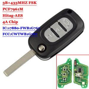 Aftermarket 3 кнопки флип дистанционный автомобильный смарт ключ-брелок 433 МГц 4A чип для Mercedes Benz Smart Fortwo 453 Forfour 2015 2016 2017