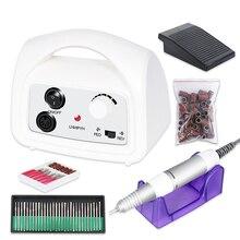 35000RPM aparatura maszynowa do zestaw do Manicure i Pedicure elektryczna wiertarka do paznokci zestaw do polerowania