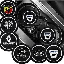 Almohadilla antideslizante para portavasos de coche, soporte para botella para Volkswagen VW CC T-ROC Golf 4 5 6 7 Sharan 7N Passat B5 B6 B7 Tiguan EOS R