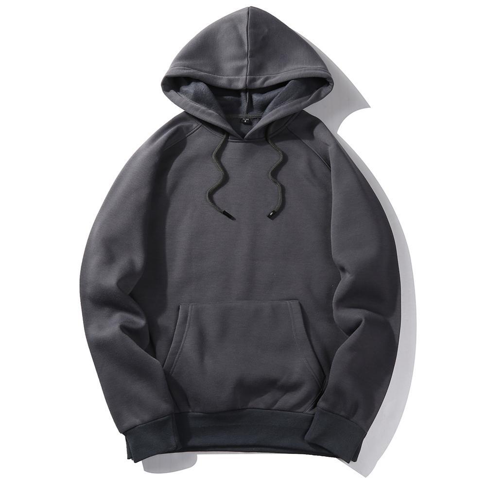 2020 Dark Grey Winter Men Hoodies Sweatshirt / Men Hip Hop Casual Cotton Tracksuit Sweat Hoodies