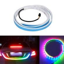 1set Car Rear Trunk Lights Multicolor RGB Colorful Tail box Light LED Warning Lamp Turn Signal Streamer Strips