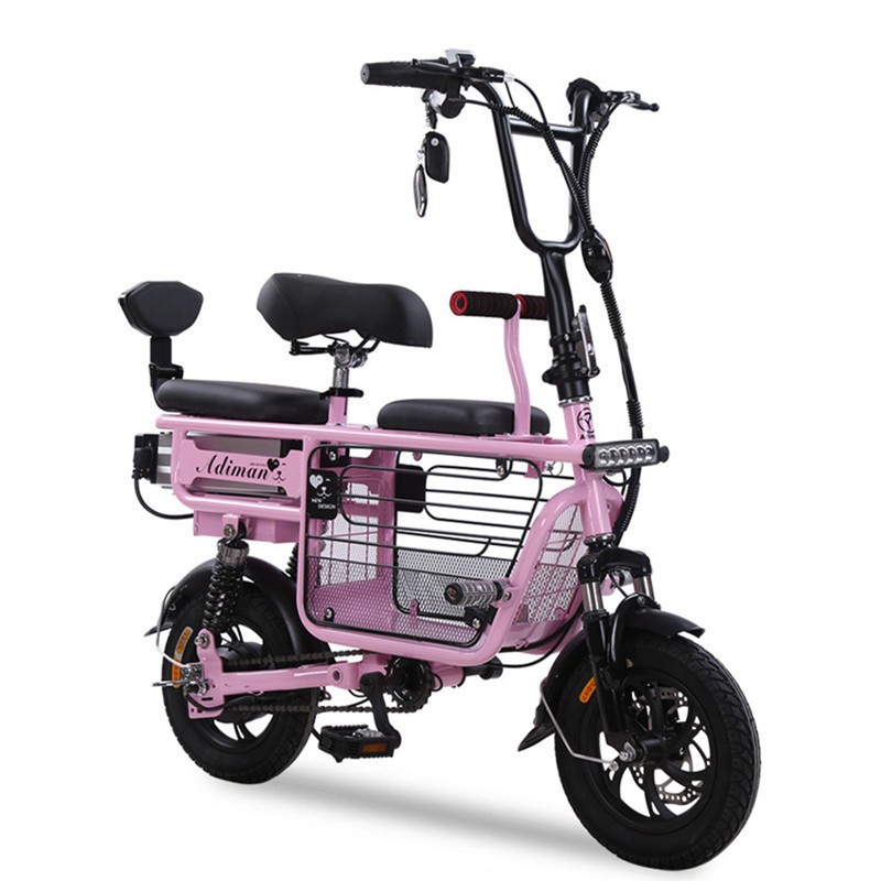Daibot Portable Electric Bike 2 Wheel Electric Bicycles 12 Inch 350W 48V Parent-child Electric Scooters Adults Removable Battery