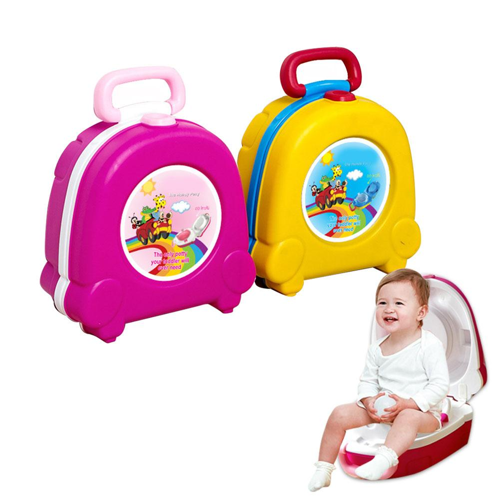 New Portable Travel Seat Potty Handheld Urinal Seat Toilet Detachable Trainer Potty For Boys Girls Camping Car Travel