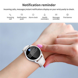 Image 4 - KW20 חכם שעון נשים IP68 עמיד למים ניטור קצב לב Bluetooth עבור אנדרואיד IOS כושר צמיד נשי Smartwatch