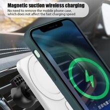 حامل هاتف السيارة المغناطيسي ، شاحن سيارة لاسلكي Qi 15 واط ، شحن سريع ، شبكة تهوية لهاتف iPhone 12 Pro Max ، حامل سيارة Magsafe صغير