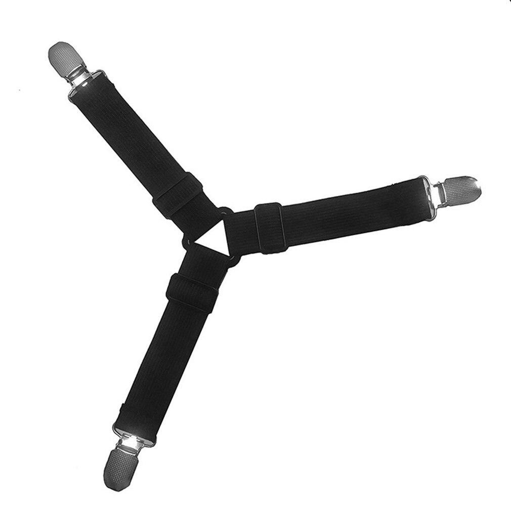 Triangle Bed Mattress Sheet Clips Grippers Straps Suspender Fastener Holder Can Adjustment Length Mattress Sheet Clips