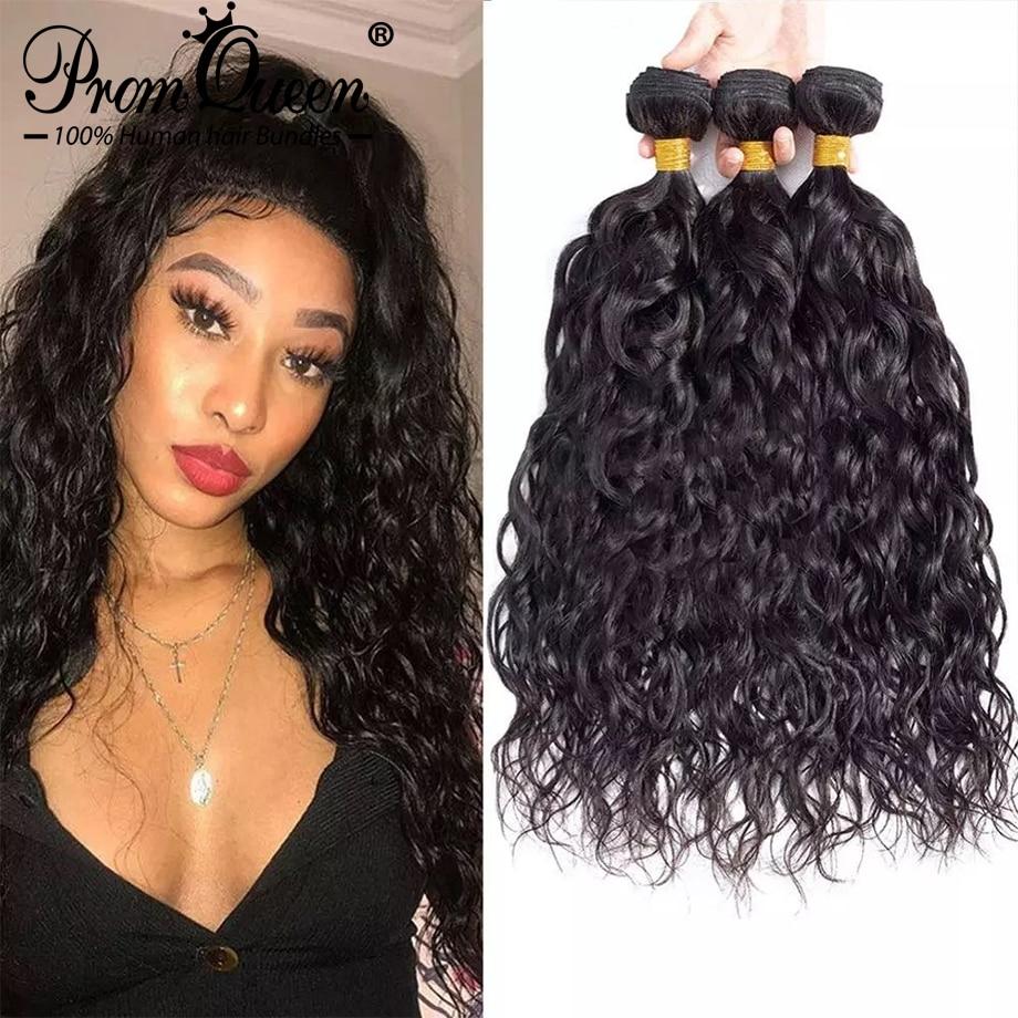 Cabelo remy brasileiro longo feixes tecer humano onda de água 28 30 32 34 36 38 40 Polegada 100% feixes tecer cabelo humano extensões do cabelo