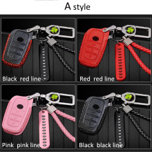 цена на Car Key Cover Set Leather Cover Shell Keychain Ring Car Decoration For Toyota Camry RAV4 RAV-4 Corolla CHR C-HR Prius Yaris