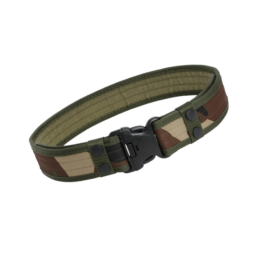 Mens Camo Canvas Waistband Tactical Outdoor Camping Field Belt Oxford Cloth