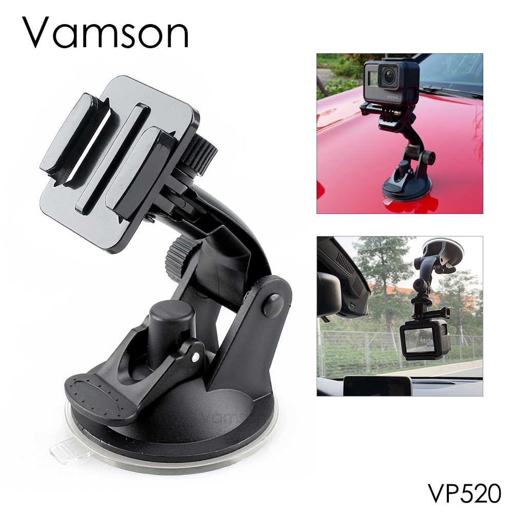 Vamson for Go Pro 8 9 Accessories 7cm Car Mount Windshield Suction Cup for Gopro Hero 9 8 7 6 5 4 for SJCAM for Yi 4K VP520