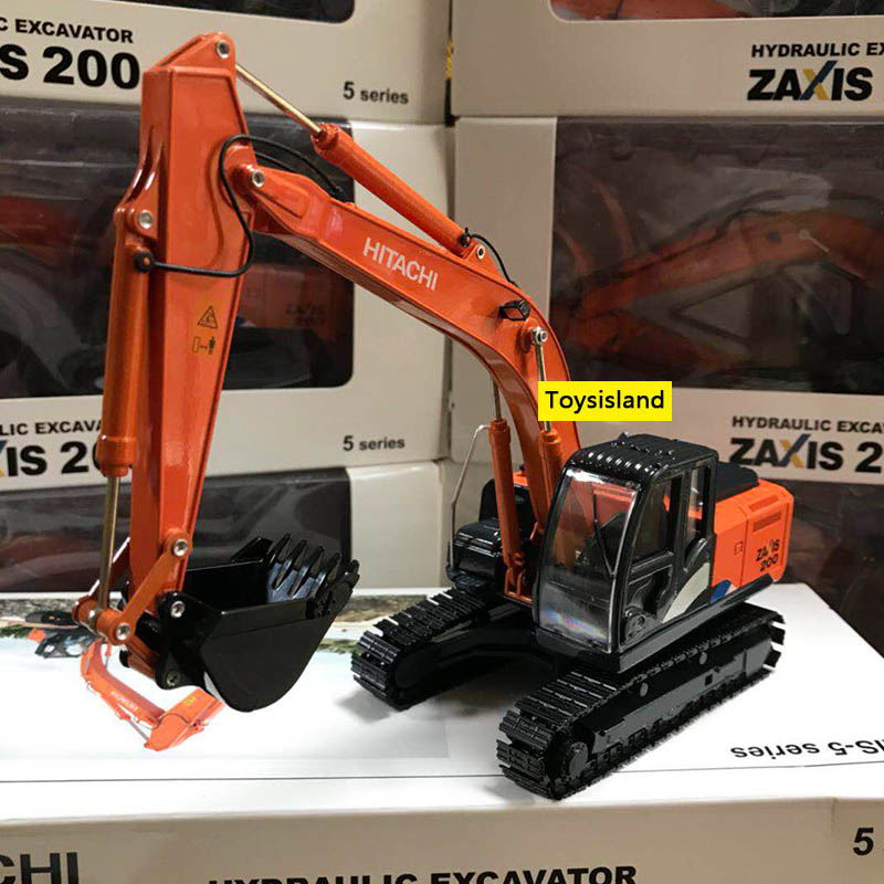 ZAX200 1:50 Truck Excavator Wheel Loader Diecast Metal Model Construction Vehicle Toys For Boys Birthday Gift Car Collection