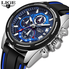 New LIGE Men Watches Top Brand Luxury Chronograph M