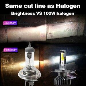 Image 5 - Otbqcn ミニ車のヘッドライト canbus H7 H4 led 3000 18k 4300 18k 6500 18k 8000 18k H1 H11 H8 9005 9006 H3 ヘッドランプ led 電球自動フォグランプ 12 v