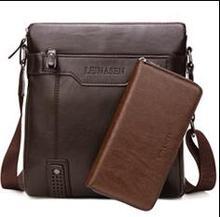 WEIXIER Men Shoulder Bag Vintage Crossbody Bags High Quality Male Bag PU Leather Handbag Capacity Men Messenger Bags Tote Bag