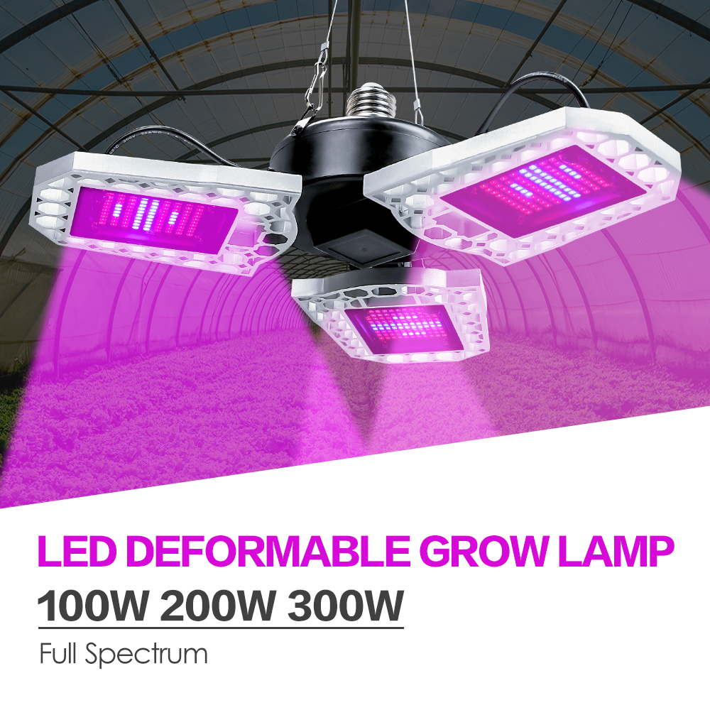 Full Spectrum LED Grow Light E27 LED Fitolampy 100W 200W 300W Phyto Spotlight For Plant Indoor Flower Seed Hydroponic Tent Grow