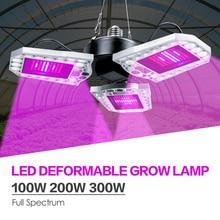 Full Spectrum LED Grow Light E27 LED Fitolampy 100W 200W 300W Phyto Spotlightสำหรับโรงงานดอกไม้ในร่มเมล็ดHydroponicเต็นท์Grow
