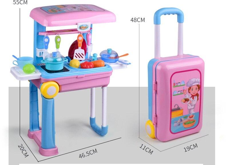 Crianças simulação família brinquedos de cozinha acomodable